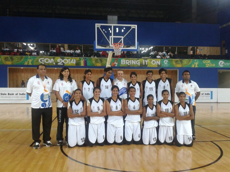 The Indian Women's team. Photo Courtesy: Basketball Federation of India.