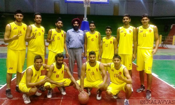 The GNDU Amritsar team which came up with a surprise 73-70 win over University of Madras. Copyright Ekalavyas