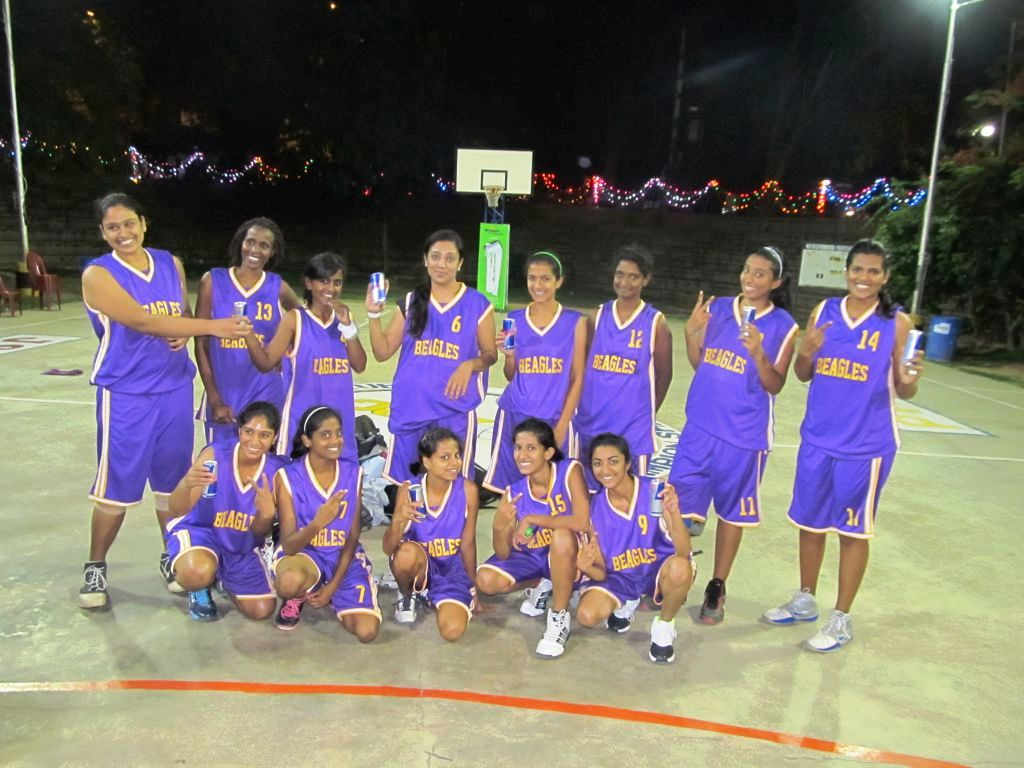 The Beagles team which beat JSC by a single point in their semifinal match.