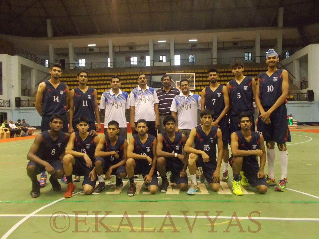 The U-18 Indian Men's team poses for a pic before its opening win over Bangladesh