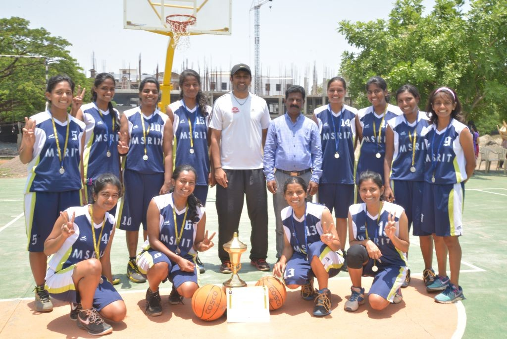 MSRIT Women's basketball team- VTU CHAMPS 2015 resized