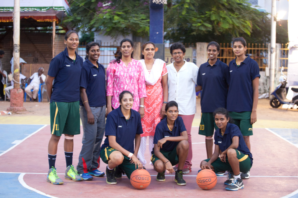 The Southern Railway Women's Team winners of Arise Rising Star Basketball Tournament 2015 held in Chennai