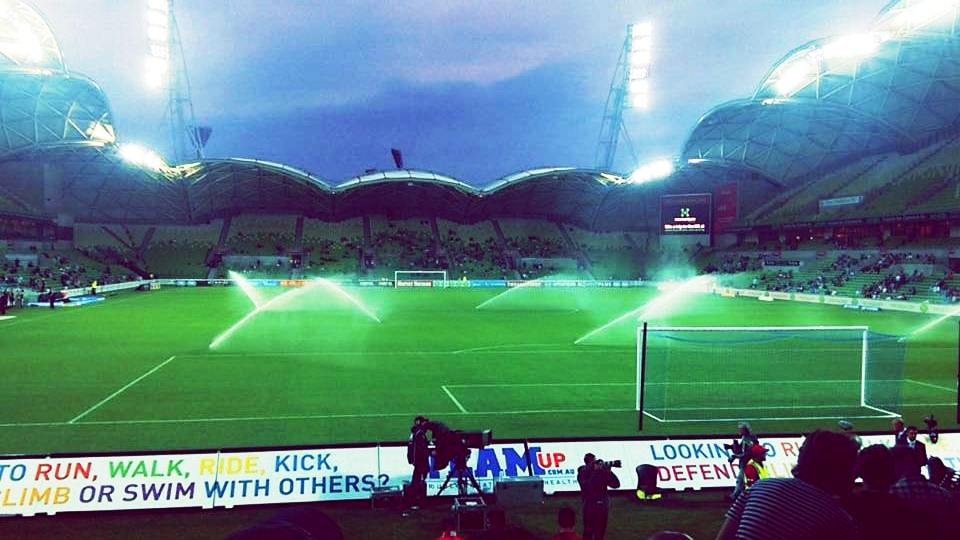 The Aami Park soccer stadium in Melbourne, on which Krittika wrote her report.