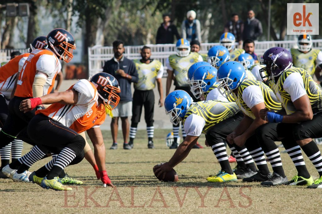 GNDU-vs-Chandigarh-University-closing-in-on-the-line-of-scrimmage-2