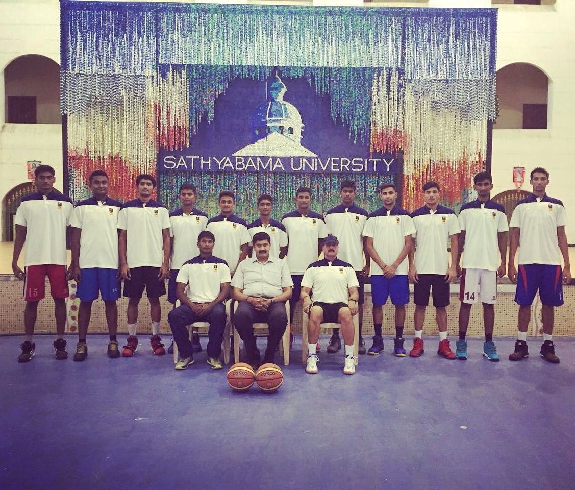 The Final Twelve for the SABA U18 Championship 2016 during their training at Sathyabama University, Chennai