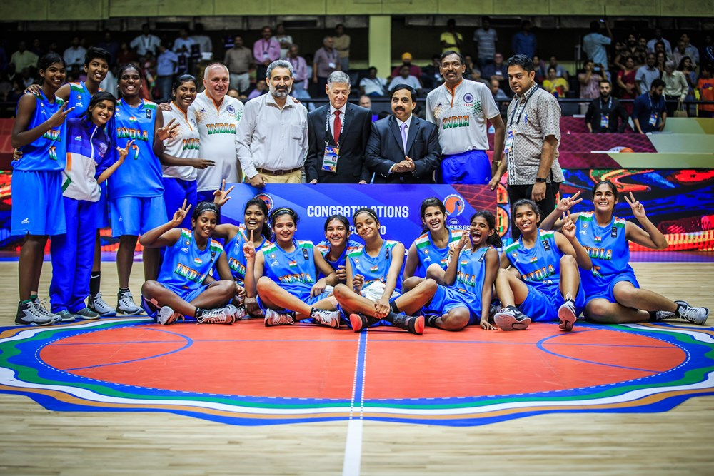 India crowned as the champions of division B of the FIBA U16