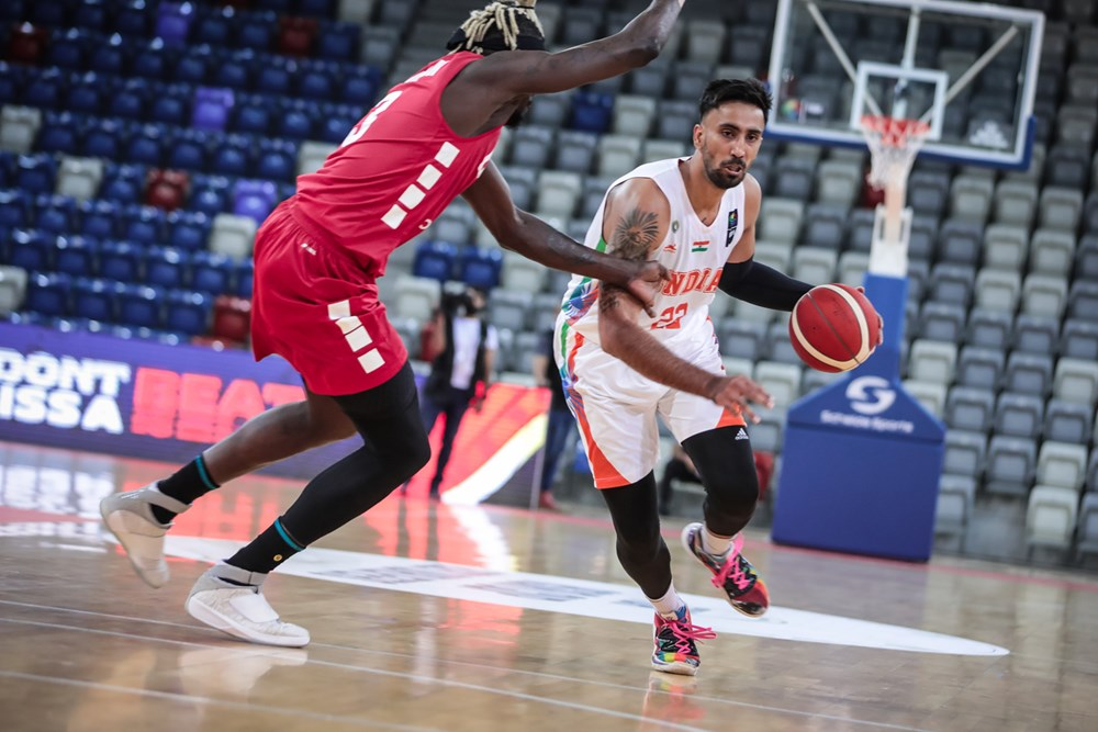 Amjyot Singh for India vs Lebanon 2021 FIBA Asia Cup Qualifiers